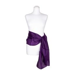 Seidenschal violett lila 100% reine Seide 180x45cm Seidengürtel