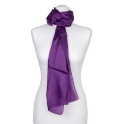 Seidenschal violett lila 100% reine Seide 180x45cm einfarbig
