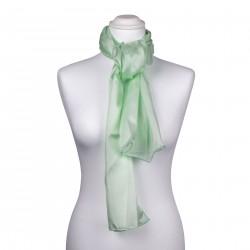 Seidenschal Mintgrün Pastellgrün 100% reine Seide 180x45cm uni einfarbig