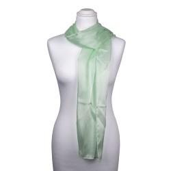Seidenschal Mintgrün Pastellgrün 100% reine Seide 180x45cm Damen einfarbig