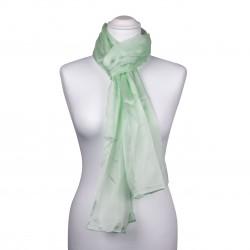 Seidenschal Mintgrün Pastellgrün 100% reine Seide 180x45cm einfarbig