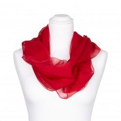 Seidenschal Chiffon rot rubinrot 100% reine Seide 180x55cm