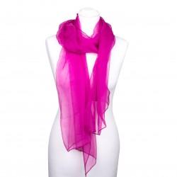 Seidenschal Chiffon 180x55cm pink rosa einfarbig uni