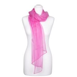 Seidenschal Chiffon altrosa rosa 100% reine Seide 180x55cm uni einfarbig