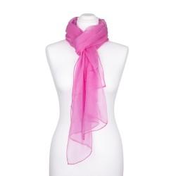 Seidenschal Chiffon altrosa rosa 100% reine Seide 180x55cm einfarbig