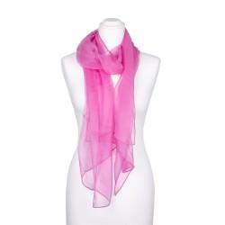 Seidenschal Chiffon altrosa rosa 100% reine Seide 180x55cm Damen