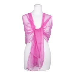 Seidenschal Chiffon altrosa rosa 100% reine Seide 180x55cm Seidenstola