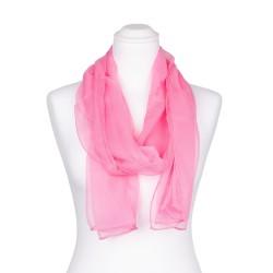 Chiffon-Seidenschal Malve Rosa 100% reine Seide pastell 180x55cm uni einfarbig