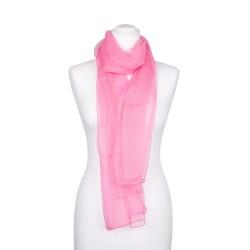 Chiffon-Seidenschal Malve Rosa 100% reine Seide pastell 180x55cm Damen