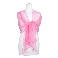 Chiffon-Seidenschal Malve Rosa 100% reine Seide pastell 180x55cm Seidenstola