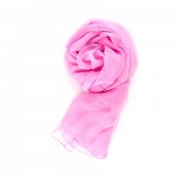 Chiffon-Seidenschal Malve Rosa unifarben einfarbig reine Seide