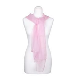 Chiffon-Seidenschal Perle Rosa 100% reine Seide 180x55cm