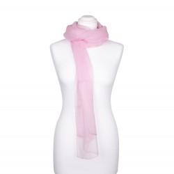 Chiffon-Seidenschal Perle Rosa 100% reine Seide 180x55cm Damen