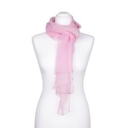 Chiffon-Seidenschal Perle Rosa 100% reine Seide 180x55cm unifarben