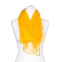 Seidenschal Chiffon gelb 100% reine Seide 180x55cm einfarbig