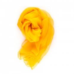 Seidenschal Chiffon 180x55cm indischgelb einfarbig uni