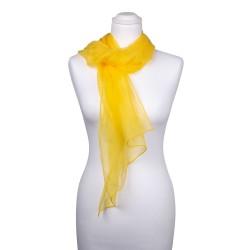 Seidenschal Chiffon gelb sonnenblumen 100% reine Seide 180x55cm Seidenstola