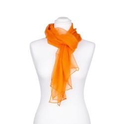 Chiffon Seidenschal Orange 100% reine Seide