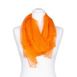 Chiffon Seidenschal Orange 100% reine Seide 180x55cm