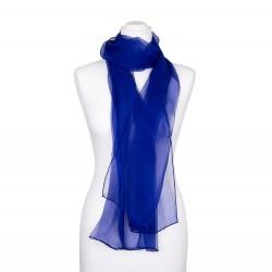 Seidenschal Chiffon royalblau dunkelblau 100% reine Seide 180x55cm Damen