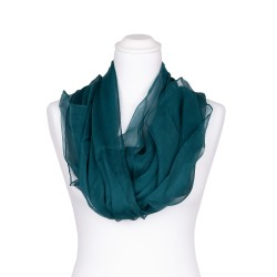 Seidenschal Chiffon jaspis blaugrün dunkelgrün 100% reine Seide 180x55cm Damen