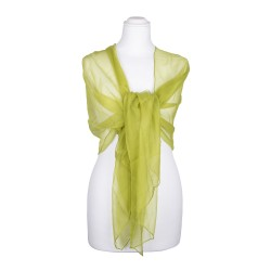 Chiffonschal Limone 100% reine Seide 180x55cm Damen Seidenstola