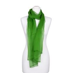 Seidenschal Chiffon Minzgrün dunkelgrün 100% reine Seide 180x55cm uni einfarbig