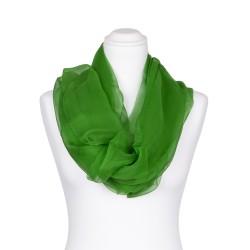 Seidenschal Chiffon Minzgrün dunkelgrün 100% reine Seide 180x55cm Damen