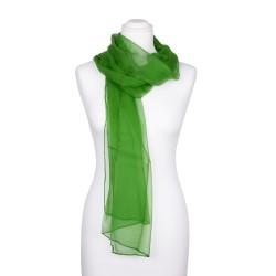 Seidenschal Chiffon Minzgrün dunkelgrün 100% reine Seide 180x55cm einfarbig