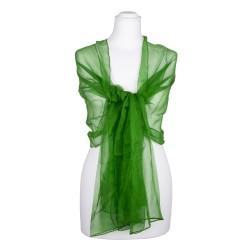 Seidenschal Chiffon Minzgrün dunkelgrün 100% reine Seide 180x55cm Seidenstola