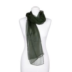 Seidenschal Chiffon Tannengrün waldgrün dunkelgrün 100% reine Seide 180x55cm