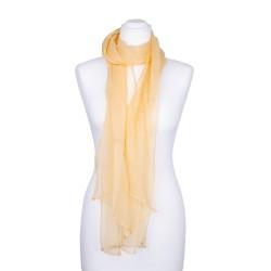 Seidenschal Chiffon sand gelb pastell hellbraun 100% reine Seide 180x55cm