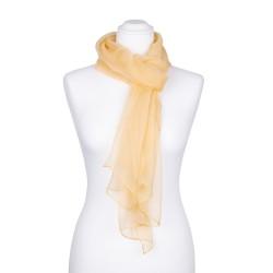Seidenschal Chiffon sand gelb pastell hellbraun 100% reine Seide 180x55cm Damen