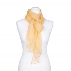 Seidenschal Chiffon sand gelb pastell hellbraun 100% reine Seide 180x55cm einfarbig