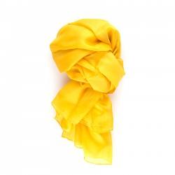 Seidenschal XXL indisch gelb 100% reine Seide 180x90cm