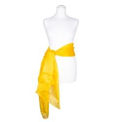 Seidenschal XXL indisch gelb gelb 100% reine Seide 180x90cm Seidengürtel