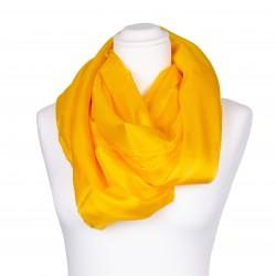 indisch gelber Seidenschal XXL 100% reine Seide 180x90cm Damen gelb einfarbig