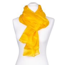 Seidenschal XXL indisch gelb 100% reine Seide 180x90cm Damen einfarbig