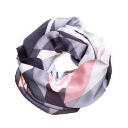Seidenschal Halstuch Schal Satin rosa grau