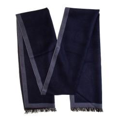 Seidenflanell Schal Halstuch blau dunkelblau Spiegelrahmen 180x30 cm reine Seide