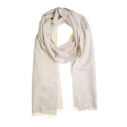 Seidenflanell Schal Halstuch weiß