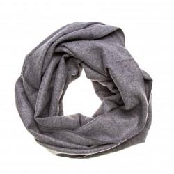 Seidenflanell Schal Halstuch grau