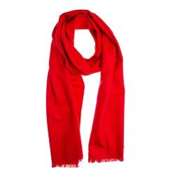 Seidenflanell Schal Halstuch rot 180x30 cm reine Seide