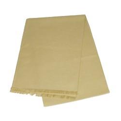 Schal Seidenflanell beige 180x30 cm einfarbig 100% Seide