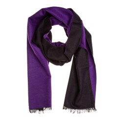 Seidenflanell Schal Halstuch schwarz lila