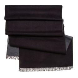 Seidenflanell Schal Halstuch schwarz anthrazit
