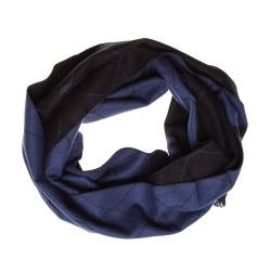 Seidenflanell Schal blau schwarz Diamant