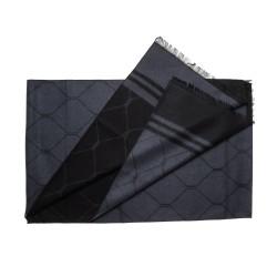Schal Seidenflanell grau schwarz Diamant