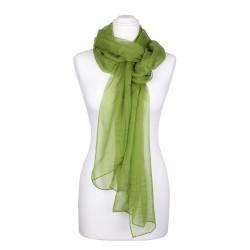 Chiffon-Seidenschal Peridotgrün Grün 100% reine Seide 180x55cm