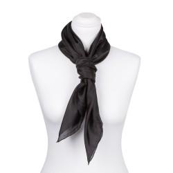 Seidentuch schwarz 100% reine Seide 90x90cm uni einfarbig